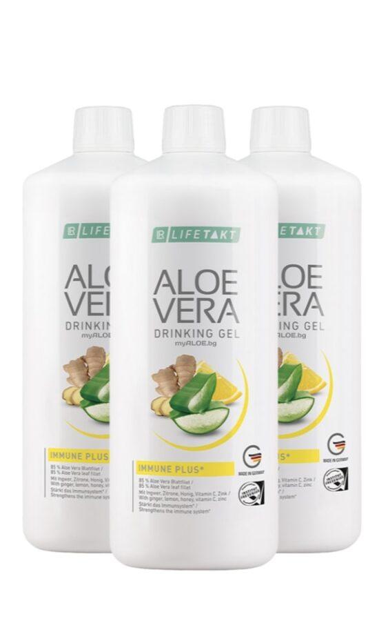 Aloe Vera Гел за пиене Immune Plus, троен комплект 3л