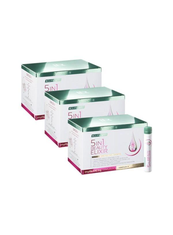5in1 Beauty Elixir, троен комплект www.myALOE.bg онлайн магазин Течен Колаген, Kolagen