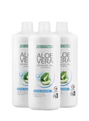 Aloe Vera Гел за пиене Active Freedom троен комплект