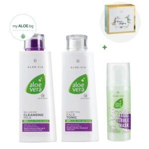 Aloe Vera Комплект за Почистване на Лицето